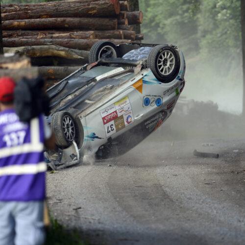 Accident lors du Rallye du Chablais 2016 © Kaufmann Motorsport Suisse | Auto Sport Suisse