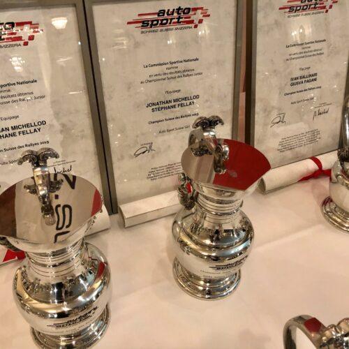 Les trophées et les diplomes © Eichenberger Motorsport Suisse | Auto Sport Suisse
