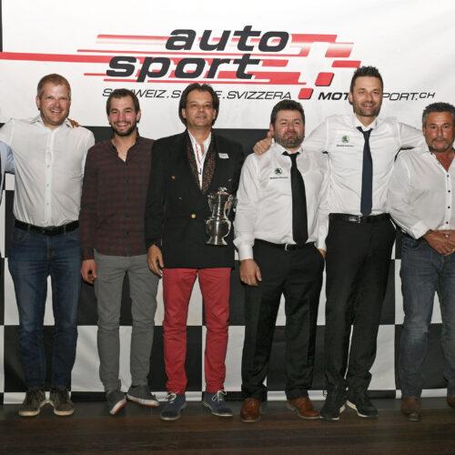 Alle Meister: Berguerand, Fellay, Michellod, Feigenwinter, Pagani, Ballinari, Buerki und Thomann © Kaufmann Motorsport Schweiz | Auto Sport Schweiz