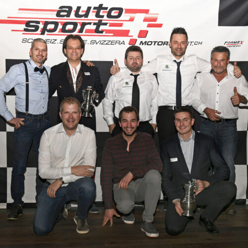 Tous les champions: Berguerand, Feigenwinter, Pagani, Ballinari, Buerki, Fellay, Michellod et Thomann © Kaufmann Motorsport Suisse | Auto Sport Suisse
