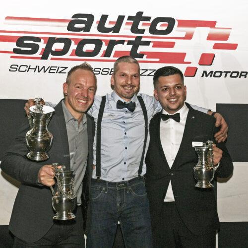 Steiner, Berguerand et Faustini © Kaufmann Motorsport Suisse | Auto Sport Suisse